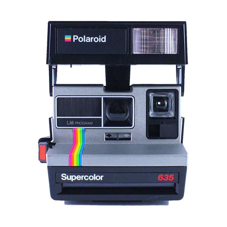 polaroid supercolor 635 instant camera 600 color flash 1980