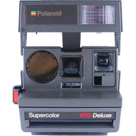 polaroid 670 deluxe autofocus instant camera 600 color flash 1980