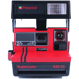 polaroid 645cl rouge close up supercolor 600 instantané pola 600 vintage ancien