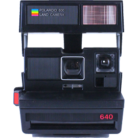 polaroid vintage 640 pola 600 flash couleur 1980