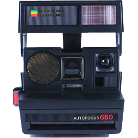 polaroid 660 autofocus instant camera 600 color flash 1980