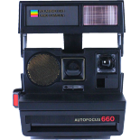 polaroid vintage 660 autofocus ancien 600 couleur flash 1980 af