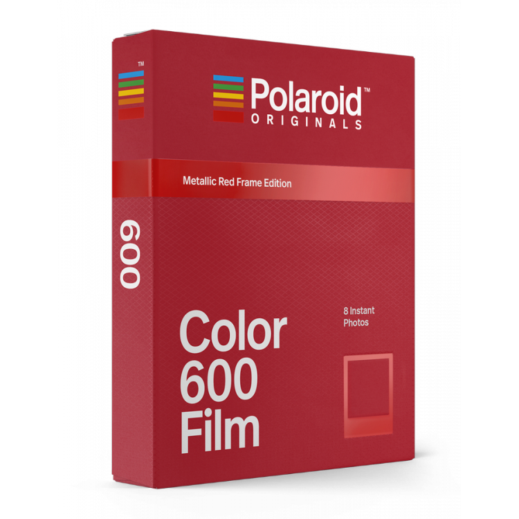 polaroid originals instant color film for 600 cameras color red metal metallic