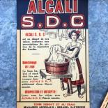 étiquette ancienne lessive alcali sdc 1920 1930