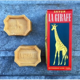 box pack of 2 soaps soap vintage antique 1950 1960 la girafe 400grs 400 grams