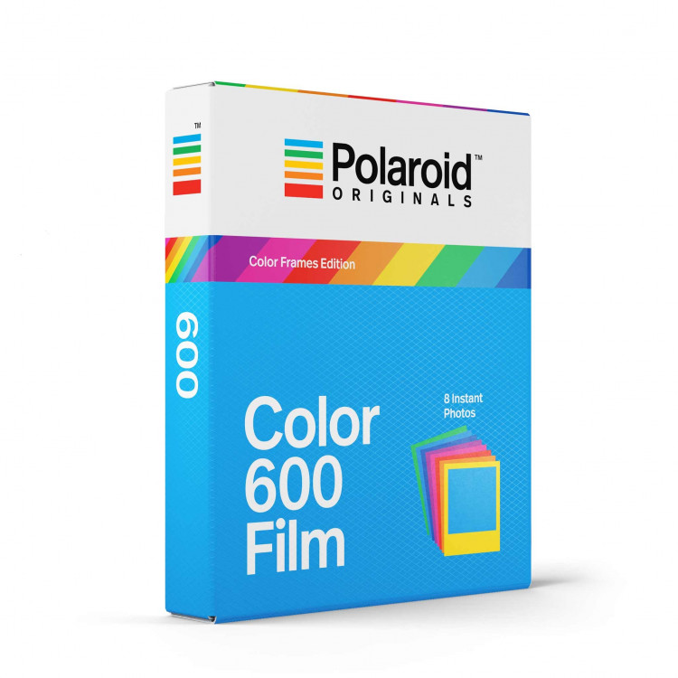 impossible film 600 color for polaroid rainbow frame vintage