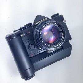 olympus om2n noir motordrive reflex zuiko 50mm 1.4
