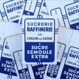 boite sucre sucrerie raffinerie chalon sur saone 1960 vintage emballage