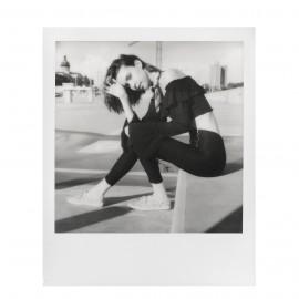 instna film polaroid originals film SX70 impossible project black and white 1000 white frame