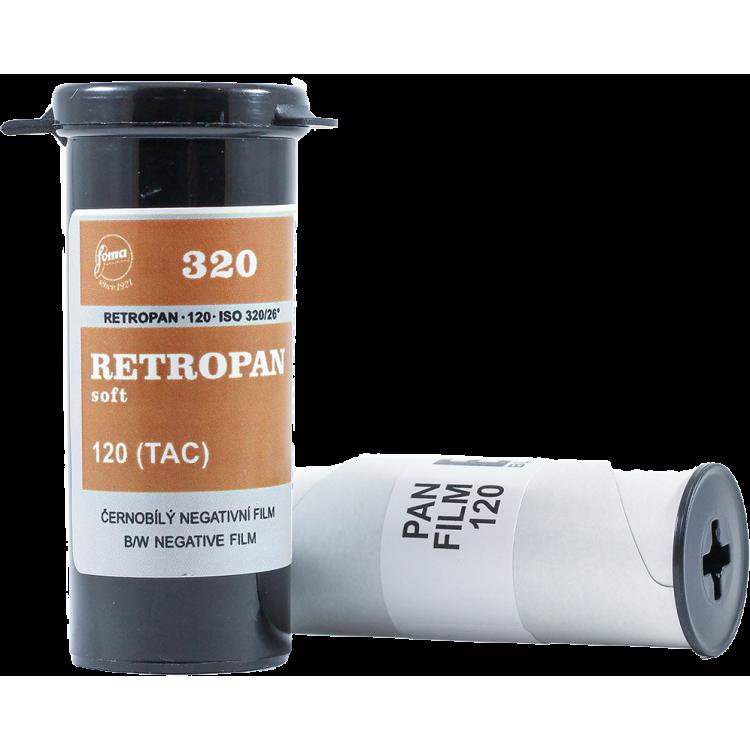 fomapan retropan soft 320 120 pellicule argentique noir et blanc tons doux