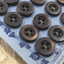 carte 24 boutons ancien vintage vêtements de travail pantalons mercerie 1930 13mm