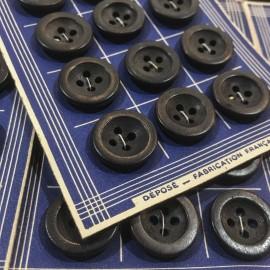 carte 24 boutons ancien vintage vêtements de travail boutons de france mercerie 1930 17mm