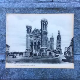carte monumentale ancienne vue lyon notre dame de fourviere basilique 1930 1940