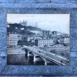 carte monumentale ancienne vue lyon pont tilsitt 1930 1940