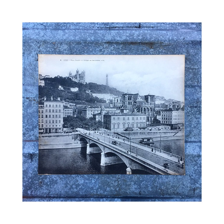 monumental card pont tilsitt bridge lyon 1930 1940