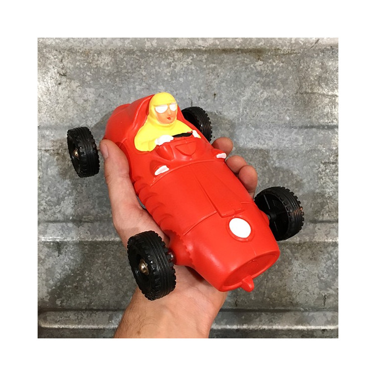 Jouet voiture bolide course rouge ancien vintage 1960