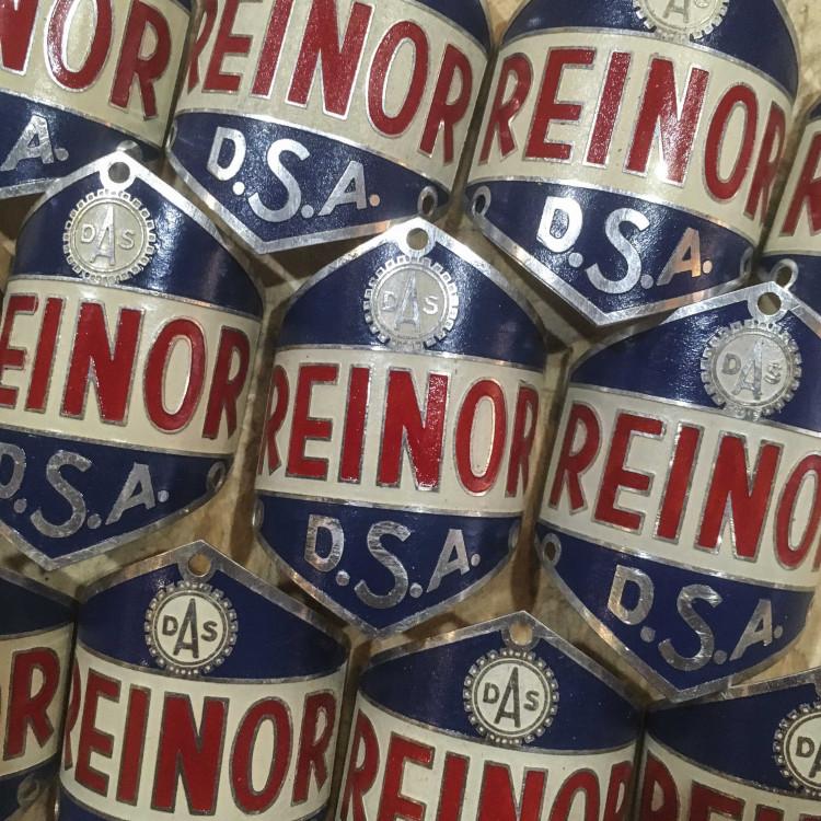 plaque de vélo Reinor Lyon DSA ancienne ancien cycle vintage 1940 1950