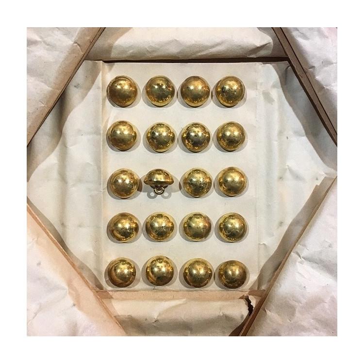 bouton militaire ancien demi grelot vintage or doré 15mm 1900 parade armée superieur france supérieur
