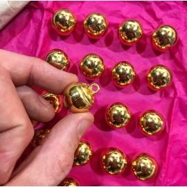 bouton militaire ancien petit grelot vintage plaqué or doré 18mm 1900 parade armée gjf gj f