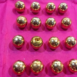 bouton militaire ancien petit grelot vintage plaqué or doré 10mm 1900 parade armée