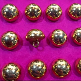 bouton militaire ancien demi grelot vintage plaqué or doré 15mm 1900 parade armée