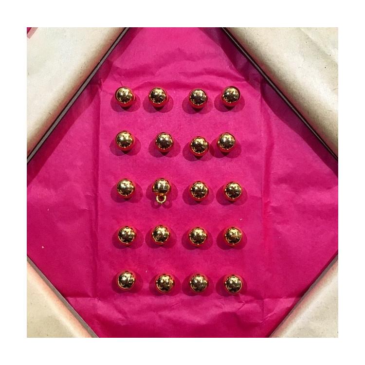 bouton militaire ancien petit grelot vintage plaqué or doré 8mm 1900 parade armée gjf gj f