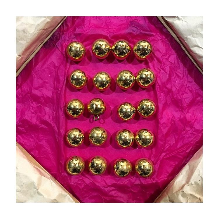 bouton militaire ancien petit grelot vintage plaqué or doré 18mm 1900 parade armée amc am et cie