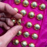 military button bell golden 20mm uniform french army militaria gold golden parade maurice bourdon
