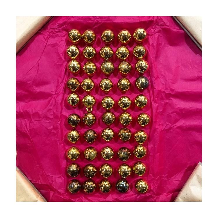 bouton militaire ancien petit grelot vintage doré 13mm 1900 parade armée amc am et cie