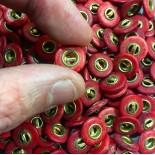 bouton ancien rouge pantalon bois rouge laiton 13mm culotte 1900 militaire armée française