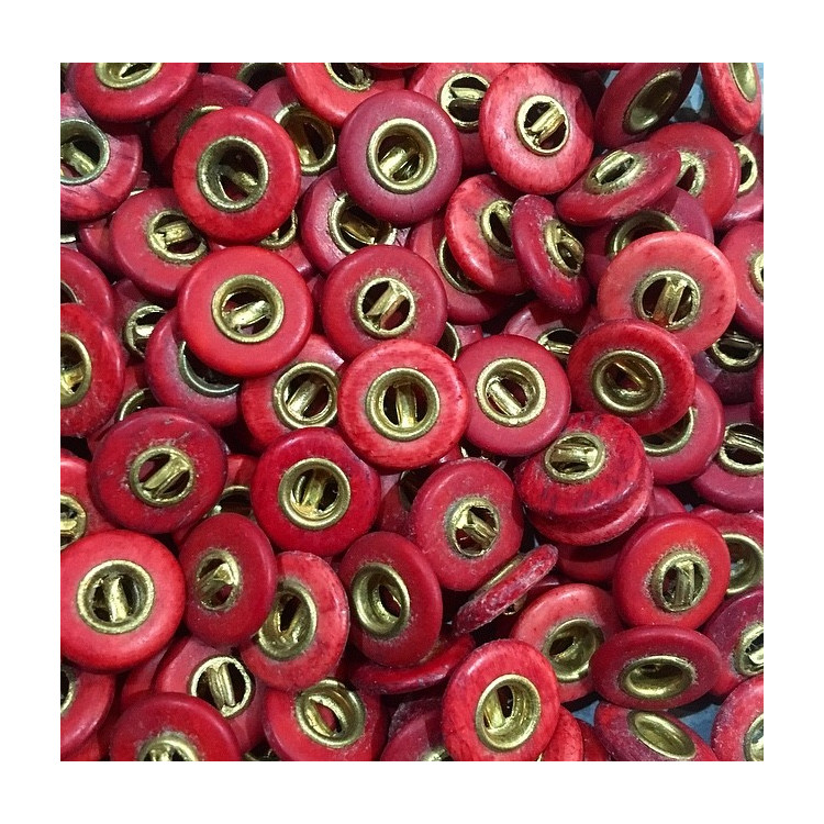 pants button trousers red gold golden 13mm wood antique vintage military army french