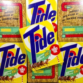 tide pack washing powder antique vintage grocery tiercé 1950