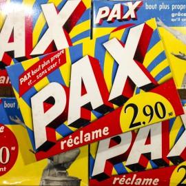 pax paquet lessive carton ancien vintage épicerie nouveau franc 1950
