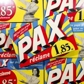 pack pax washing powder antique vintage nouveau franc grocery french 1950