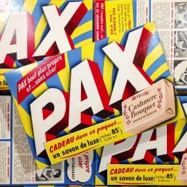 paquet lessive pax ancien vintage carton boite épicerie 1960