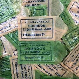 sachets bourdon peche au chavasson vintage  hameçons 1930