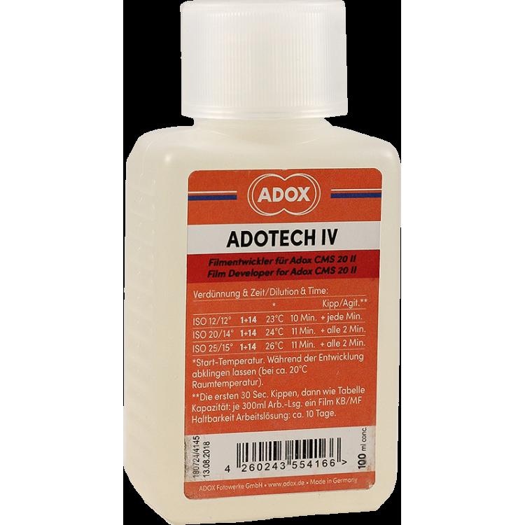 adox adotech iv cms 20 II film noir et blanc grain fin révélateur développeur chimie argentique