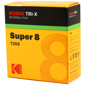 kodak film pellicule super 8 reversible noir et blanc tri-x tri x