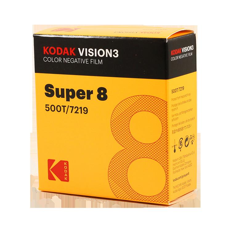 kodak vision 3 super 8 film cinéma caméra ancienne vintage 500T 7219 couleur négatif