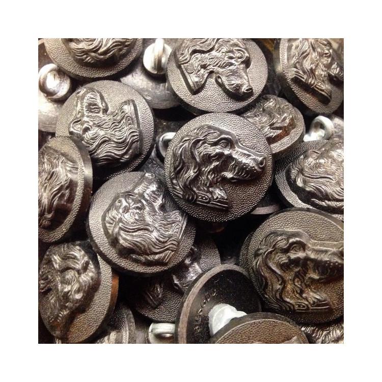 bouton ancien de vénerie chasse chien arrêt 1930 vintage
