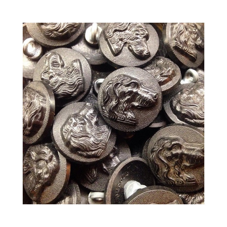 hunting venery button antique old vintage dog 1930 23mm