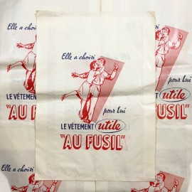 au fusil utile clothing antique vintage paper bag 1960