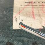 grand thermomètre martini plaque émaillée ancien usine atelier alcool vintage 1960 verre