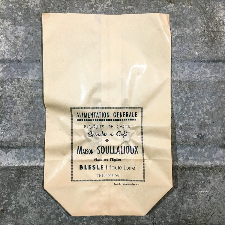 paper bag grocery windowed antique vintage 1960