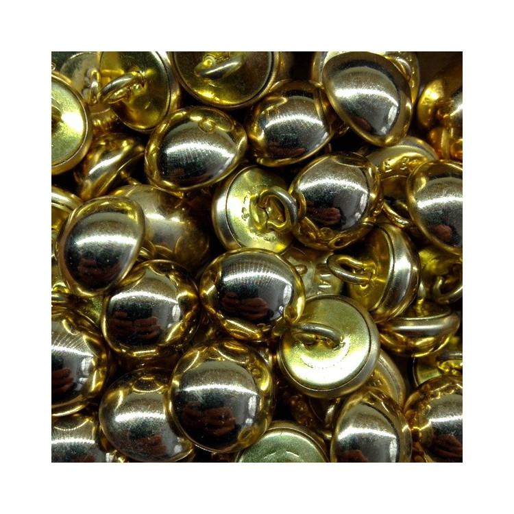 bouton militaire ancien demi grelot vintage laiton doré or 1960 15mm