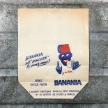 grocery paper banania vintage wrapping 1960