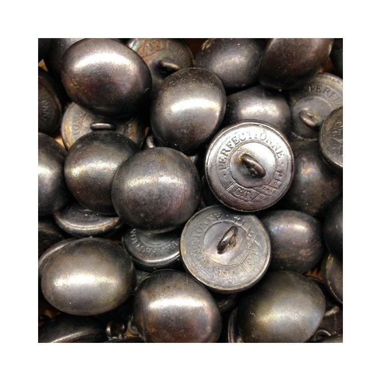 bouton étain militaire ancien perfectionné 19mm armée française napoléon vintage