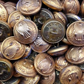french air army aviator 1930 gold brass vintage button buttons 21mm