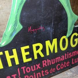 le thermogène présentoir carton boutique ancien vintage pharmacie illustration cappiello 1930