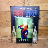 vittel display cardboard bellenger pharmacy antique vintage illustration 1930